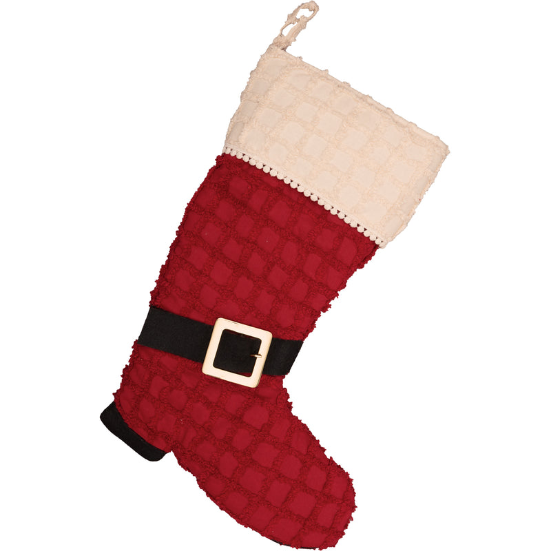 Chenille Christmas Boot Stocking-Stocking-VHC-Wall2Wall Furnishings