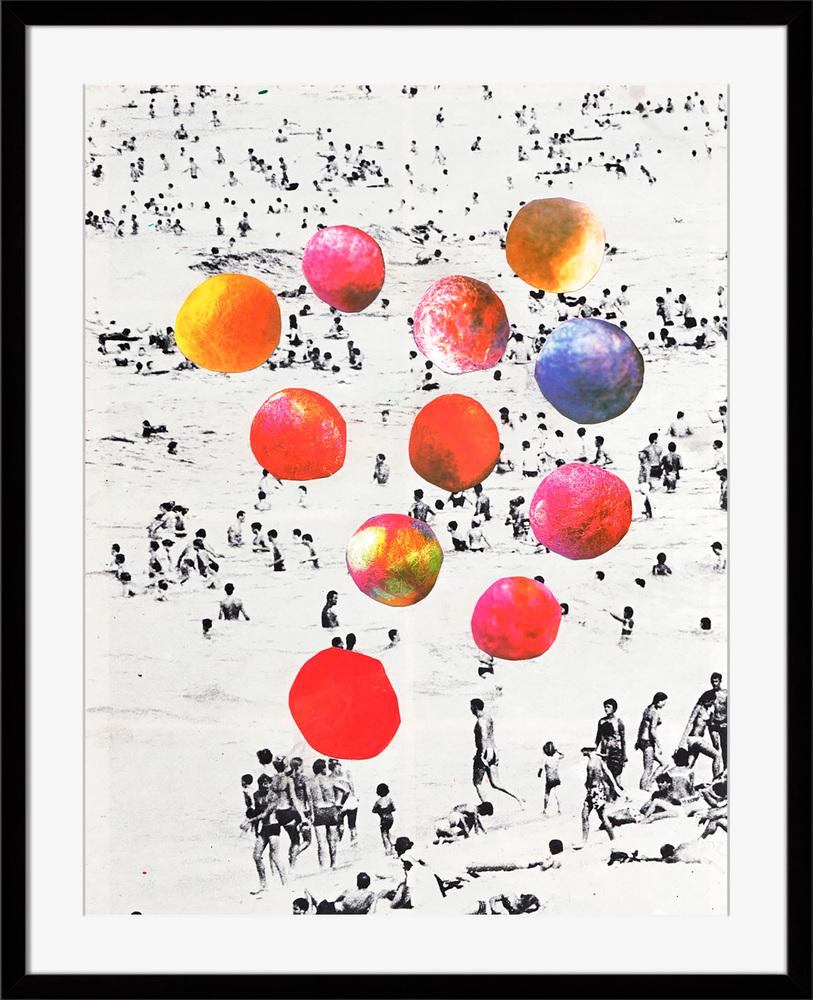 Beach Balls - Wall Art-Wall Art-Surya-Wall2Wall Furnishings