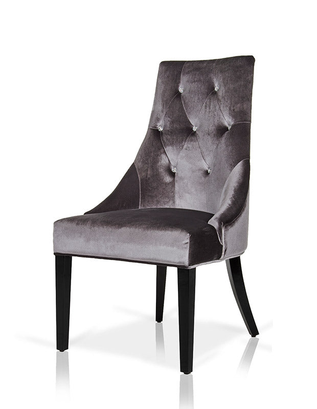 A&X Charlotte - Velour Dining Chair (Set of 2)-Dining Chair-VIG-Wall2Wall Furnishings