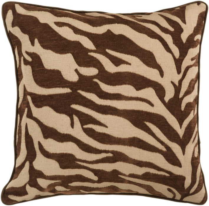 Velvet Zebra Pillow 5-Pillow Cover-Surya-Wall2Wall Furnishings