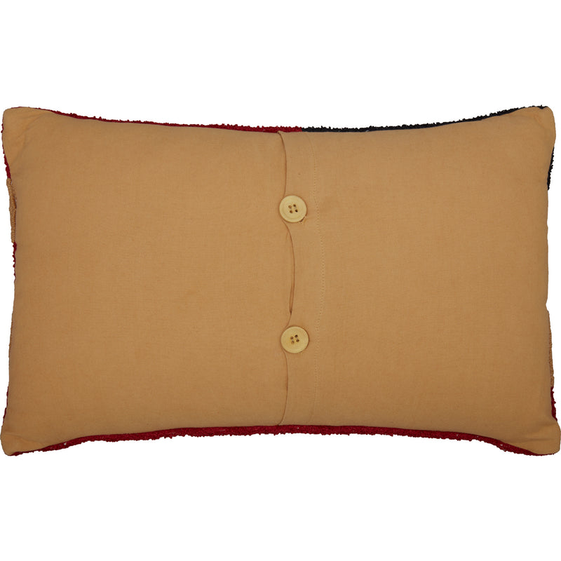 Patriotic Patch Flag Hooked Pillow-Pillow Cover-VHC-Wall2Wall Furnishings
