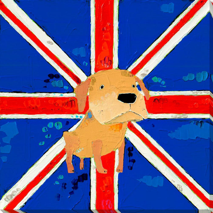 The Most British English Bulldog Ever - Wall Art-Wall Art-Surya-Wall2Wall Furnishings