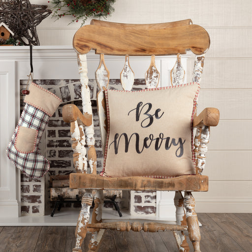 Amory Be Merry Pillow-Pillow Cover-VHC-Wall2Wall Furnishings