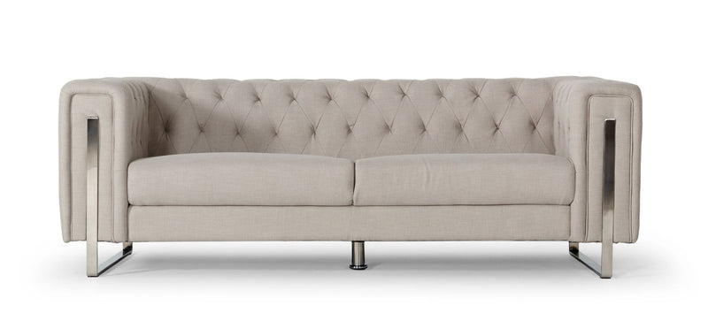 Divani Casa Salvia - Modern Beige Sofa-Sofa-VIG-Wall2Wall Furnishings