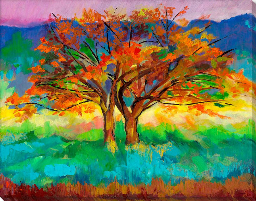 Autumn Tree - Wall Art-Wall Art-Surya-Wall2Wall Furnishings