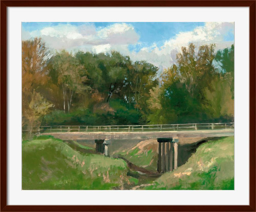 Guhn Road Bridge - Wall Art-Wall Art-Surya-Wall2Wall Furnishings