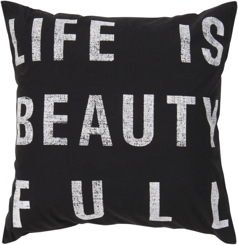 Typography Pillow 2-Pillow Cover-Surya-Wall2Wall Furnishings