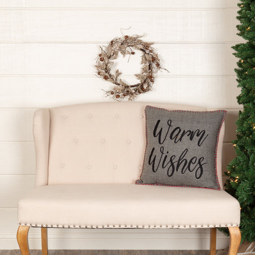 Anderson Warm Wishes Pillow-Pillow Cover-VHC-Wall2Wall Furnishings