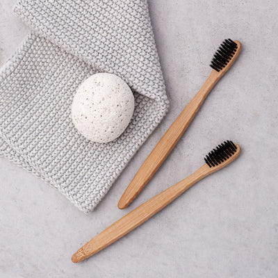 Carbon White Bamboo Natural Toothbrush