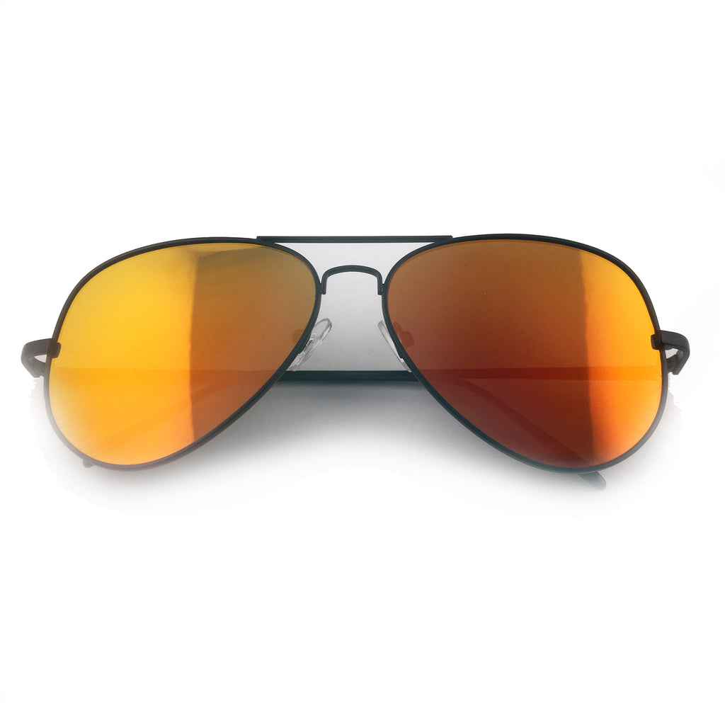 Orange tinted aviator sunglasses with black frame | The Perfect Gentleman