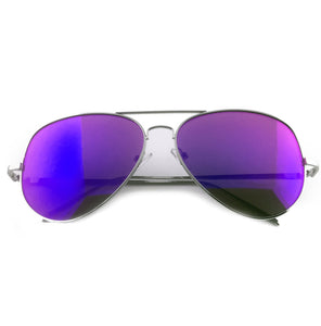Purple tinted aviator sunglasses with silver lens | The Perfect Gentleman