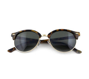 Black tinted sunglasses with cheetah patterned frame | The Perfect Gentleman