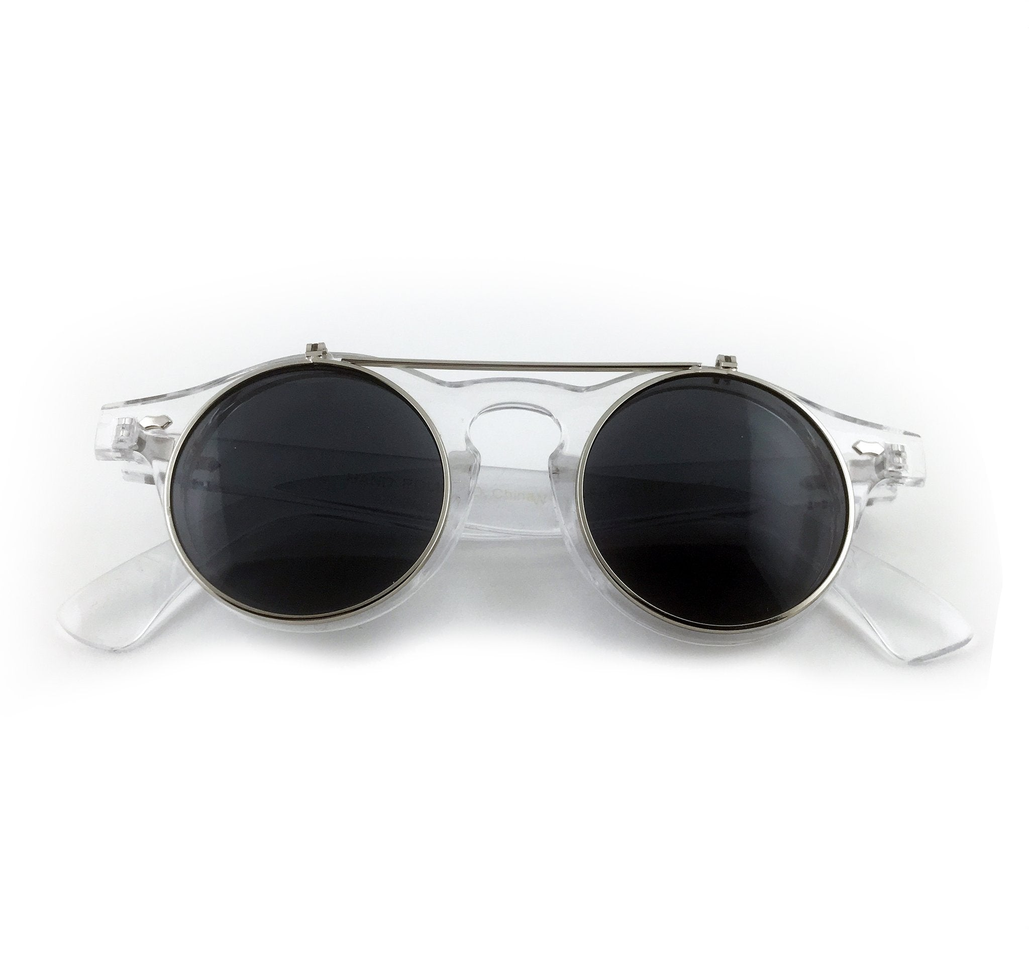 Black lens sunglasses that flip up with clear frame | The Perfect Gentleman