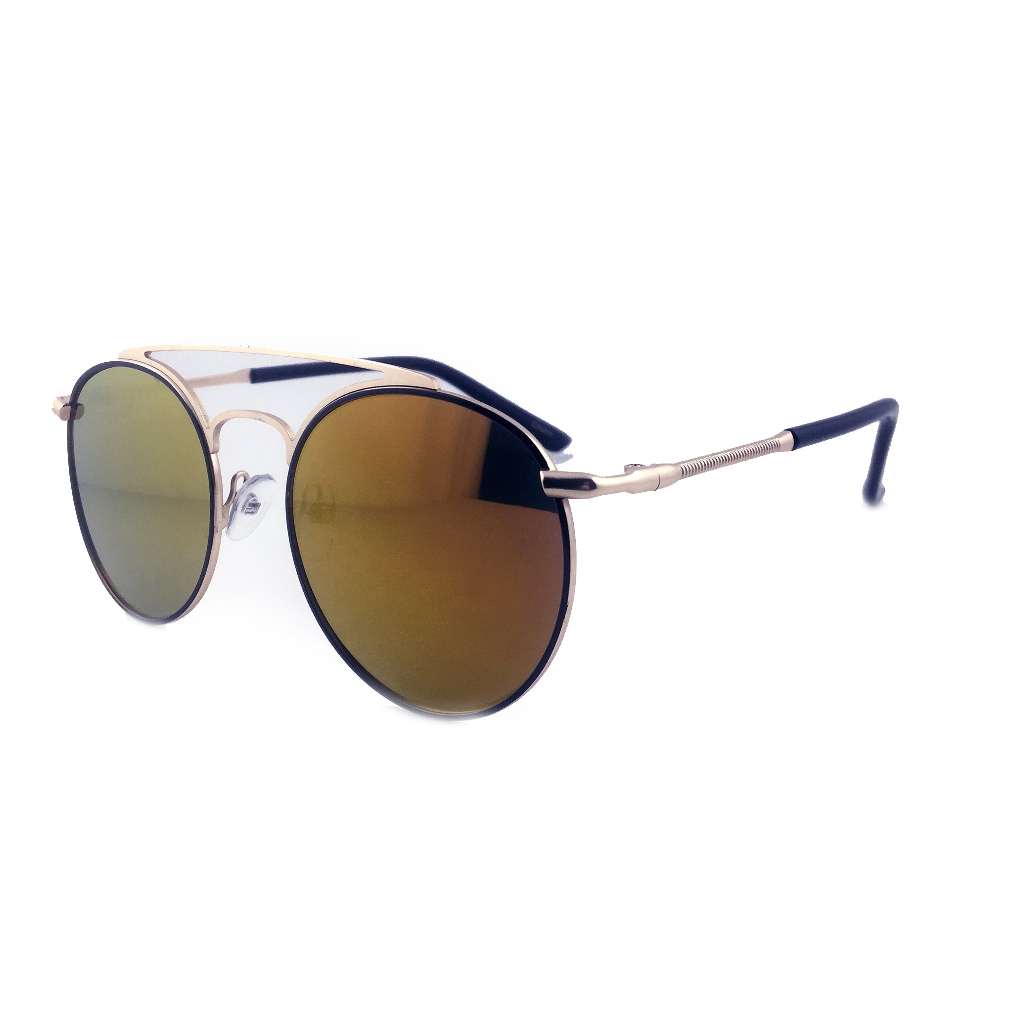 Round Aviator Sunglasses with rose gold tint and frame | The Perfect Gentleman