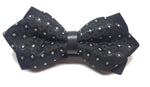 Black diamond bow tie with silver diamond pattern | The Perfect Gentleman