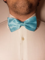Shiny baby blue bow tie for gentlemen | The Perfect Gentleman