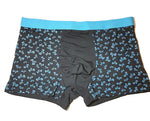 Black mens underwear with blue bow ties and a blue waist band | The Perfect Gentleman