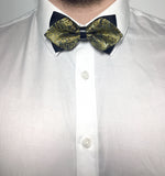 Gold paisley patterned diamond bow ties | The Perfect Gentleman