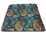 Green paisley pocket square made from silk | The Perfect Gentleman