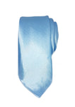 mens teal skinny tie with triangle end | The Perfect Gentleman