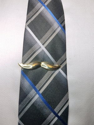 mustache mens tie clip gold plated | The Perfect Gentleman