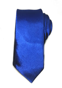 mens navy skinny tie with triangle end | The Perfect Gentleman