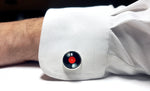 music record cuff links with silver frame | The Perfect Gentleman