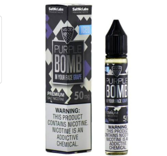 Iced Purple bomb Saltnic 30ml by Vgod