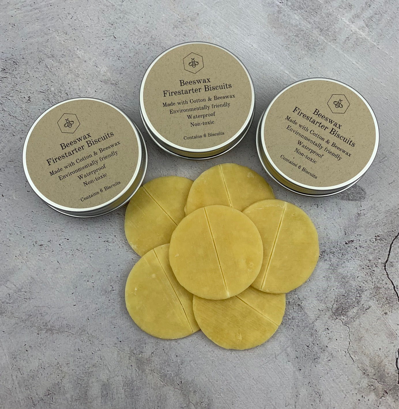Beeswax Fire-starter Biscuits