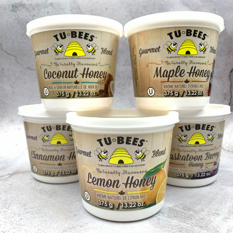 Tubees Honey, Flavoured, OU Kosher Certified, Canadian Women owned