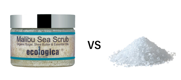 Sugar Scrub vs Salt Scrub