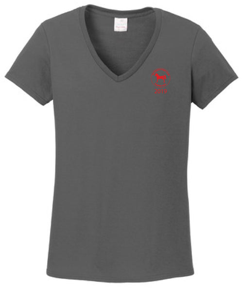 Tri-County Pony Club Gildan Ladies Heavy Cotton 100% Cotton V-Neck T-Shirt