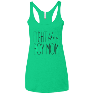 Fight Like A Boy Mom Ladies' Triblend Racerback Tank