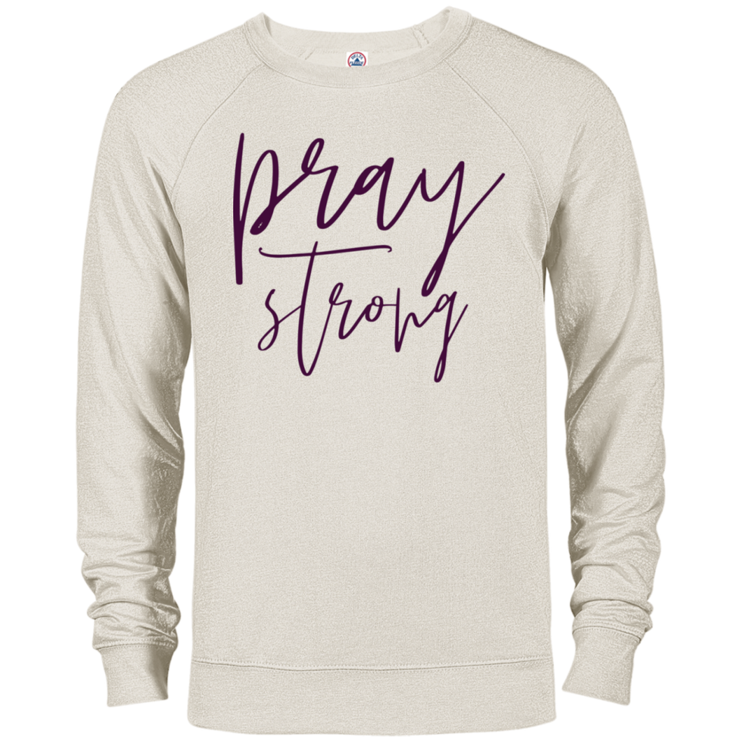 Pray Strong French Terry Crew Sweatshirt