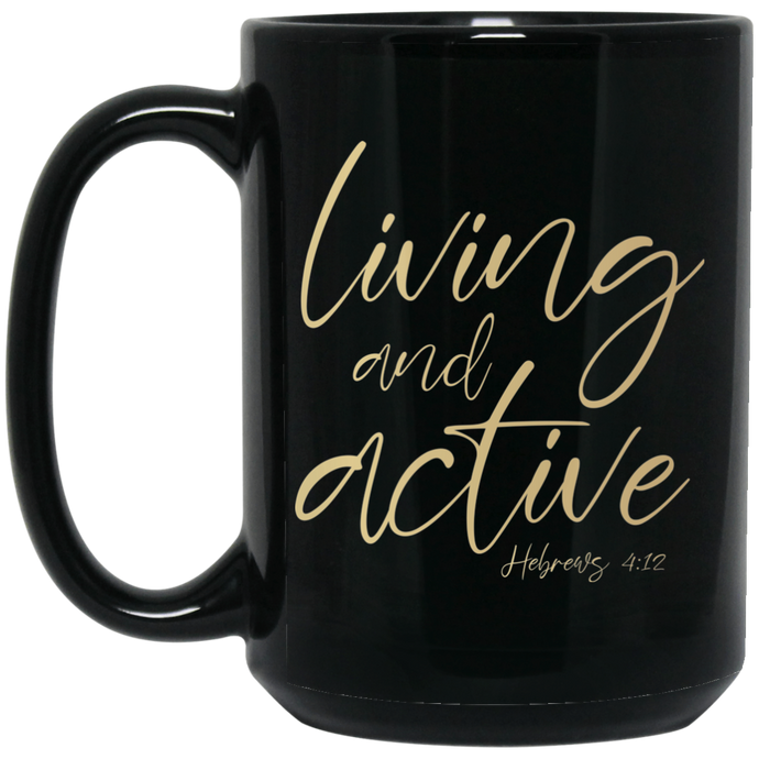 Living and Active Mug (Gold/Black)