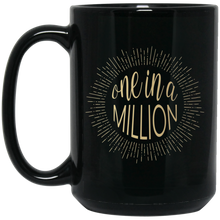 One in a Million 15 oz. Black Mug