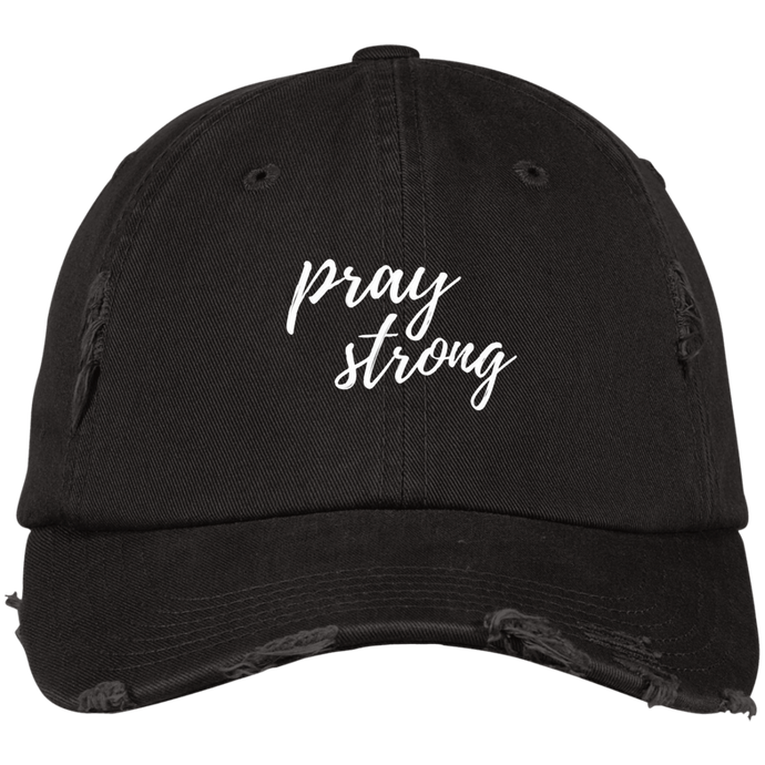 Pray Strong District Distressed Dad Cap
