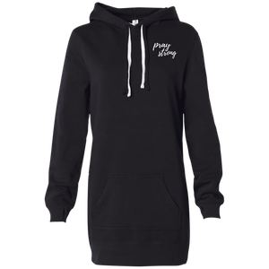 Pray Strong Women's Hooded Pullover Dress