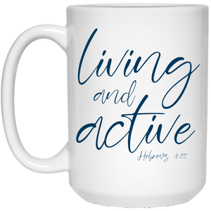 Living and Active Mug (Navy/White)