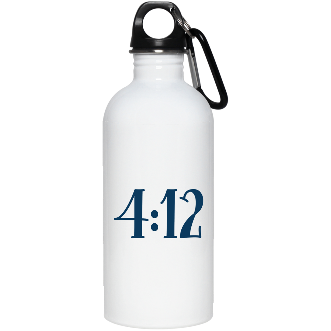 4:12 20 oz. Stainless Steel Water Bottle