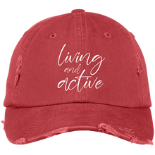 Living and Active Distressed Dad Cap