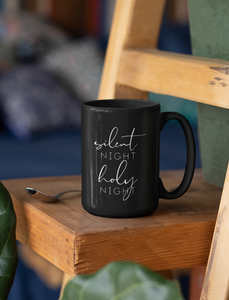 Silent Night Holy Night Mug (15 oz)