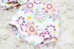 diaper cover with boho tribal sun print