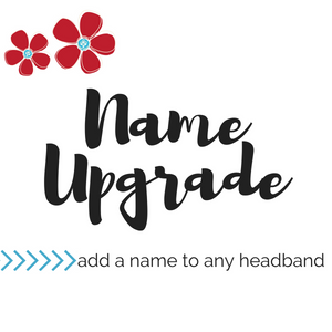 Name Upgrade for Top Knot Headbands