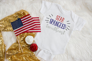 star spangled sweetheart onesie