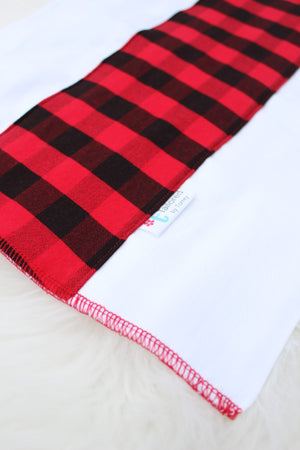 buffalo plaid burp cloth
