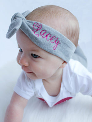Lacey personalized top knot headbands