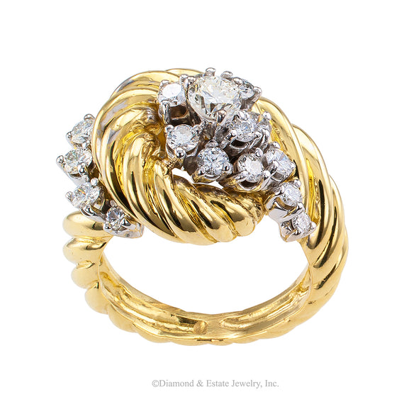 Diamond Gold Cluster Ring - Jacob's Diamond and Estate Jewelry