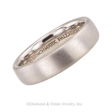 Gentleman's comfort fit 5 mm palladium wedding band size 9 1/4.