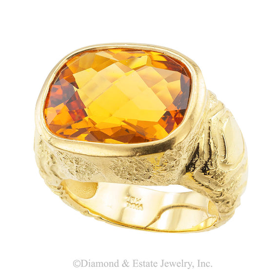 Citrine Yellow Gold Ring - Jacob's Diamond and Estate Jewelry